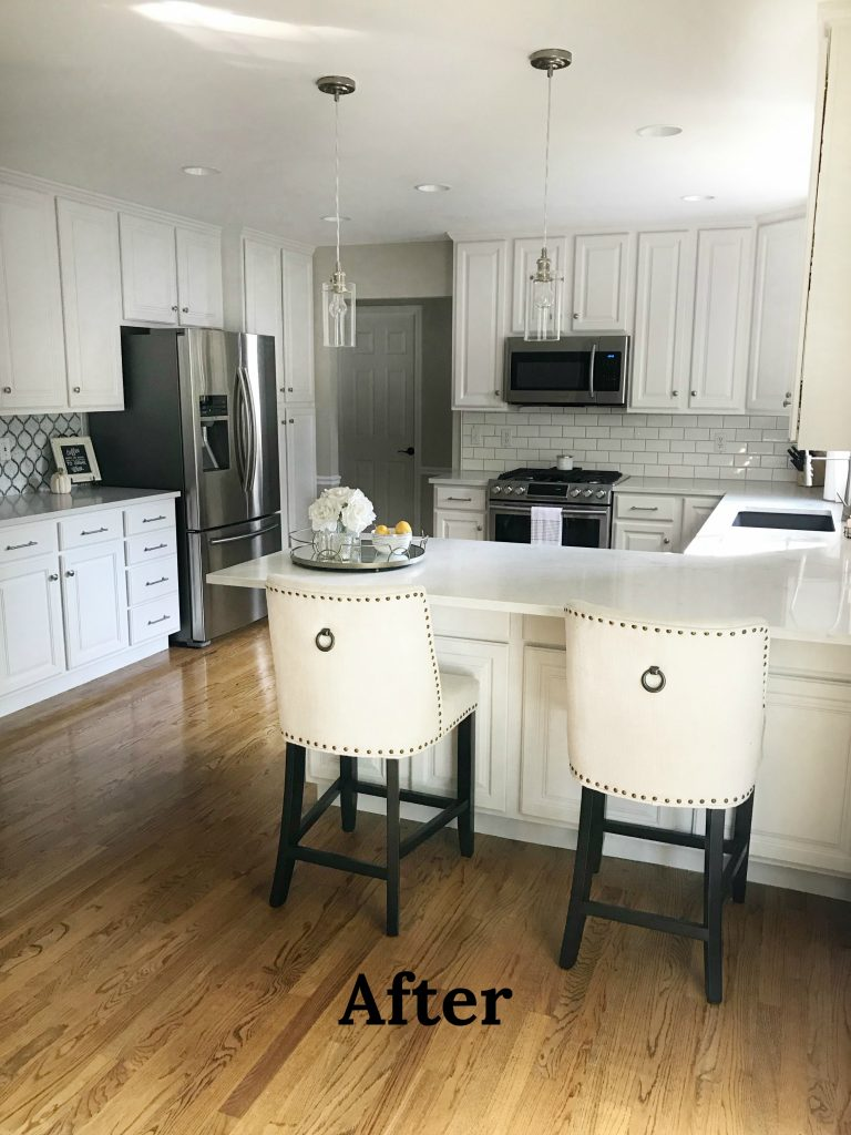Kitchen update on a budget the babbling blondes for Kitchen upgrades on a budget
