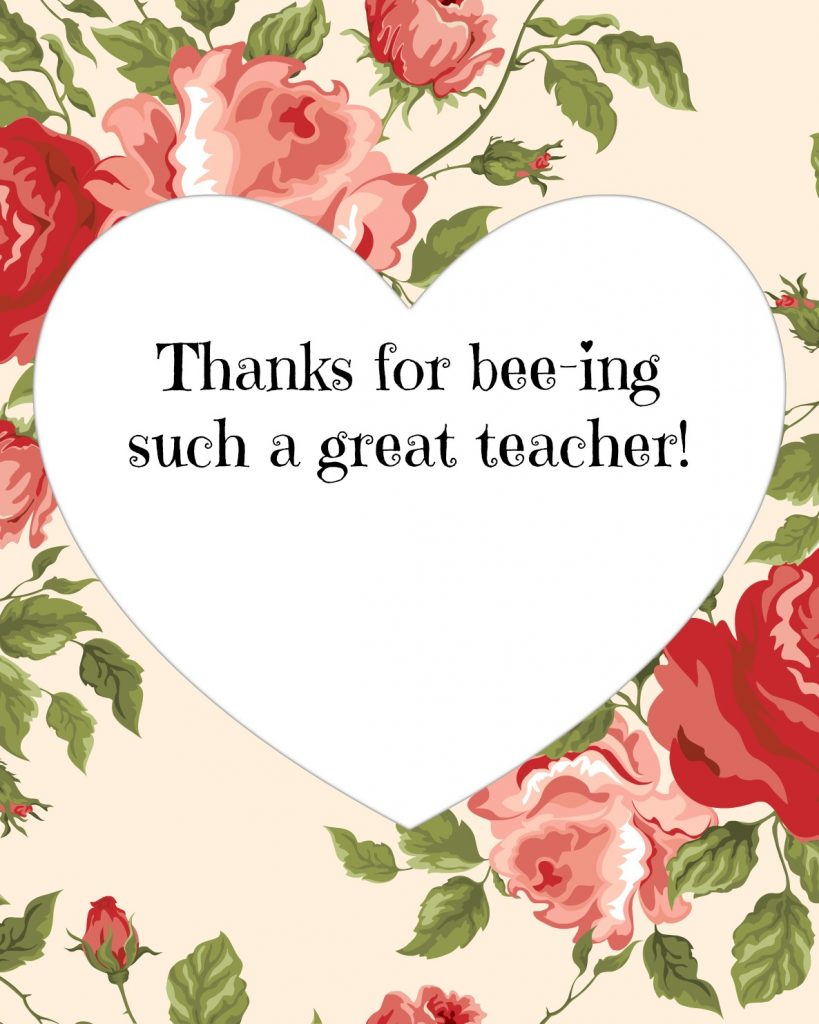 valentines teacher printable