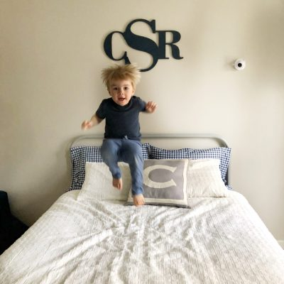 how to transition to a big boy bed + diy reading canopy