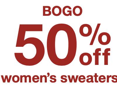 Target BOGO 50% Sweaters!