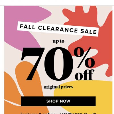 Evereve Fall Clearance Sale