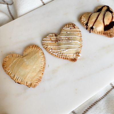 Easy apple and pumpkin pie HEART dessert
